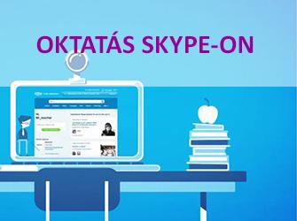 Oktatás Skype-on